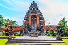Pura塔曼Ayun, Mengzi,巴厘岛门  库存照片
