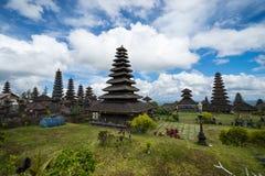 Pura Besakih in Bali. BALI, INDONESIA - 19TH JUNE 2015;Besakih complex Pura Penataran Agung , hindu temple of Bali in Indonesia Royalty Free Stock Images