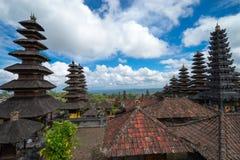 Pura Besakih in Bali. BALI, INDONESIA - 19TH JUNE 2015; Besakih complex Pura Penataran Agung , hindu temple of Bali in  Indonesia Royalty Free Stock Image