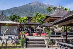 Pura Besakih Balinese temple with Mount Agung in the  background Royalty Free Stock Photos