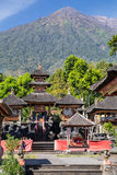 Pura Besakih Balinese temple with Mount Agung in the  background Royalty Free Stock Photography