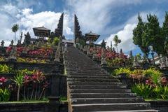 Pura Besakih i Bali Arkivfoto