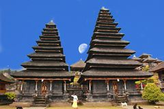 Pura Besakih is a temple complex in the village of Besakih on the slopes of Mount Agung in eastern Bali, Indonesia Royalty Free Stock Images