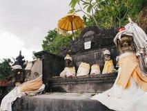 "Pura Candi Dasa. The name Candi Dasa derives from the words cili dasa, meaning ""ten children"". This temple, Pura Candi Dasa is dedicated to Bali's goddess Stock Photography"