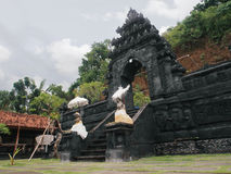"Pura Candi Dasa. The name Candi Dasa derives from the words cili dasa, meaning ""ten children"". This temple, Pura Candi Dasa is dedicated to Bali's goddess Stock Photo"