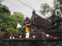 "Pura Candi Dasa. The name Candi Dasa derives from the words cili dasa, meaning ""ten children"". This temple, Pura Candi Dasa is dedicated to Bali's goddess Royalty Free Stock Image"
