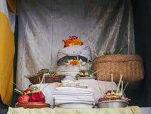 "Pura Candi Dasa. The name Candi Dasa derives from the words cili dasa, meaning ""ten children"". This temple, Pura Candi Dasa is dedicated to Bali's goddess Stock Image"
