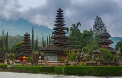 Pura Danu Beratan, Bali Indonezja zdjęcia royalty free