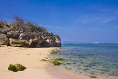 Pura Geger海滩,巴厘岛 免版税库存图片