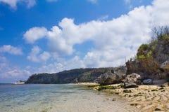 Pura Geger海滩,巴厘岛 免版税库存照片