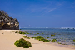 Pura Geger strand, Bali Arkivbilder