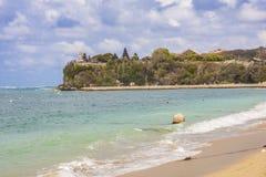 Pura Geger Temple på den Geger stranden, Bali, Indonesien arkivfoto