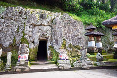 Pura Goa Gajah tempel på den Bali ön Arkivbild