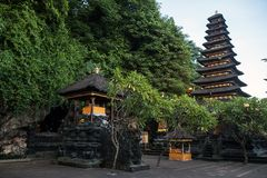 Pura Goa Lawah nietoperza jamy świątynia fotografia royalty free
