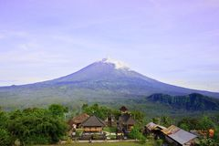 Pura Lempuyang temple with Mount Agung in Bali, Indonesia stock images
