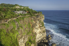 Pura Luhur Uluwatu寺庙,巴厘岛 免版税库存照片
