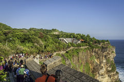 Pura Luhur Uluwatu寺庙,巴厘岛 库存图片