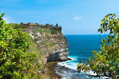 Pura Luhur Uluwatu,巴厘岛,印度尼西亚 免版税图库摄影