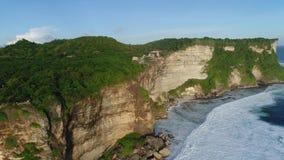 Pura Luhur Uluwatu, Aerial Shot travelling stock footage