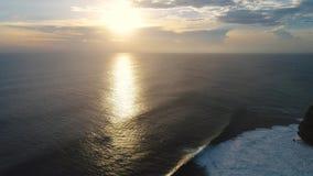 Pura Luhur Uluwatu, Aerial Shot travelling stock video
