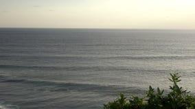 Pura Luhur Uluwatu. Bali Indonesia, the Panoramic view in time sunset stock video