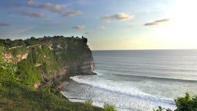 Pura Luhur Uluwatu. Bali Indonesia, the Panoramic view in time sunset.  stock video footage