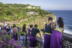 Pura Luhur Uluwatu tempel, Bali Fotografering för Bildbyråer