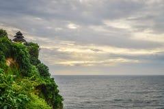 Pura Luhur Uluwatu temple. Bali, Indonesia. Amazing landscape - cliff with blue sky and sea Stock Image