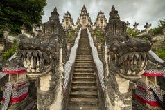 Pura Penataran巴厘岛的,印度尼西亚阿贡Lempuyang 免版税库存图片
