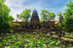 Pura Saraswati Hindu temple in Ubud, Bali, Indonesia Royalty Free Stock Images