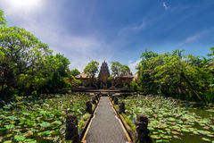 Pura Saraswati Hindu temple in Ubud, Bali, Indonesia Royalty Free Stock Image