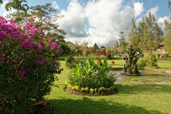 Pura Taman Ayun in Bali. Pura Taman Ayun is a compound of Balinese temple and garden with water features located in Mengwi subdistrict in Badung Regency, Bali Stock Photography