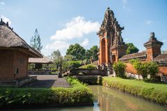Pura Taman Ayun in Bali, Indonesien lizenzfreies stockfoto