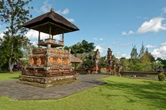 Pura Taman Ayun in Bali. Pura Taman Ayun is a compound of Balinese temple and garden with water features located in Mengwi subdistrict in Badung Regency, Bali Royalty Free Stock Photos