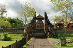 Pura Taman Ayun Main Entrance. Pura Taman Ayun is a compound of Balinese temple and garden with water features located in Mengwi subdistrict in Badung Regency Royalty Free Stock Images