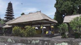 Pura Taman Ayun, Taman Ayun Temple,Bali Indonesia, the Panoramic view in sunny day.  stock footage