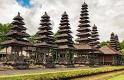 Pura Taman Ayun temple in Bali, Indonesia. Pura Taman Ayun temple is in the village of Mengwi Badung on Bali, Indonesia. History of temple is associate with royalty free stock photography