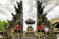 Pura Taman Ayun temple in Bali, Indonesia. Pura Taman Ayun temple is in the village of Mengwi Badung on Bali, Indonesia. History of temple is associate with royalty free stock images