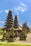 Pura Taman Ayun temple in Bali, Indonesia. Pura Taman Ayun temple is in the village of Mengwi Badung on Bali, Indonesia. History of temple is associate with royalty free stock photos