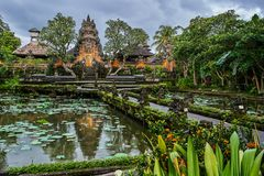 Pura Taman Kemuda Saraswati Temple in Ubud, Bali island, Indones Stock Photos