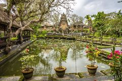 Pura Taman Saraswati Temple. Ubud, Bali, Indonesia stock photo
