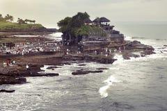 Pura Tanah全部印度寺庙,巴厘岛,印度尼西亚 免版税库存图片