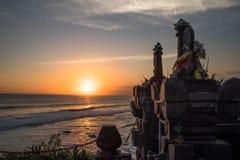 Pura Tanah全部,巴厘岛,印度尼西亚 库存照片