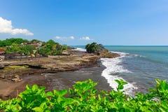 Pura Tanah Lot Bali Indonesia Royaltyfri Bild