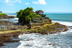Pura Tanah Lot Bali Indonesia Arkivfoto