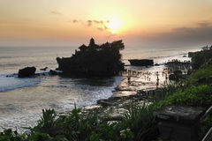 Pura Tanah Lot on Bali, Indonesia Royalty Free Stock Images