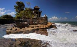 Pura Tanah Lot in Bali. The Pura Tanah Lot (Tanah Lot temple) in Bali royalty free stock images