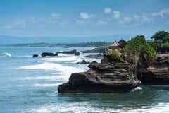 Pura Tanah Lot-tempel op Bali Stock Foto's