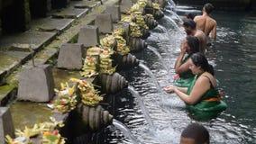 Pura tirta empul寺庙,巴厘岛,印度尼西亚 影视素材