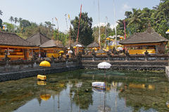 Pura tirta empul,巴厘岛,印度尼西亚 免版税库存图片